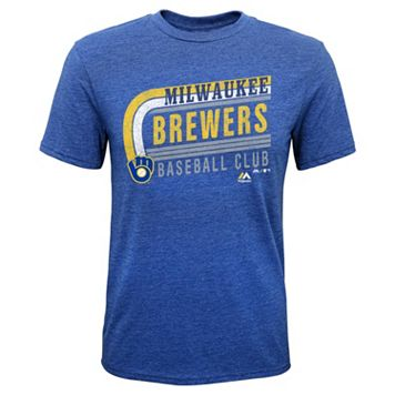 Boys 8-20 Majestic Milwaukee Brewers Curve Ball Tee