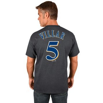 Men's Majestic Milwaukee Brewers Jonathan Villar Tee