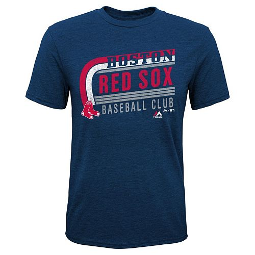 Boys 8-20 Majestic Boston Red Sox Curve Ball Tee
