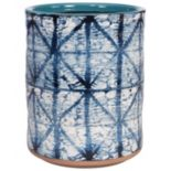 Creative Bath Shibori Ceramic Wastebasket