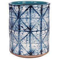 Creative Bath Shibori Ceramic Wastebasket