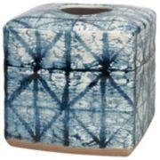 Creative Bath Shibori Ceramic Tissue Cover