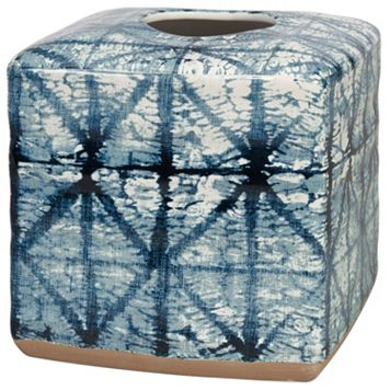 Creative Bath Shibori Ceramic Tissue Cover