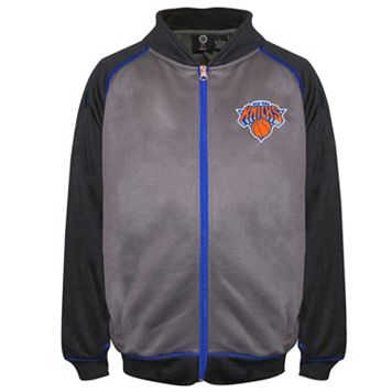 Boys 8-20 Majestic New York Knicks Fleece Track Jacket