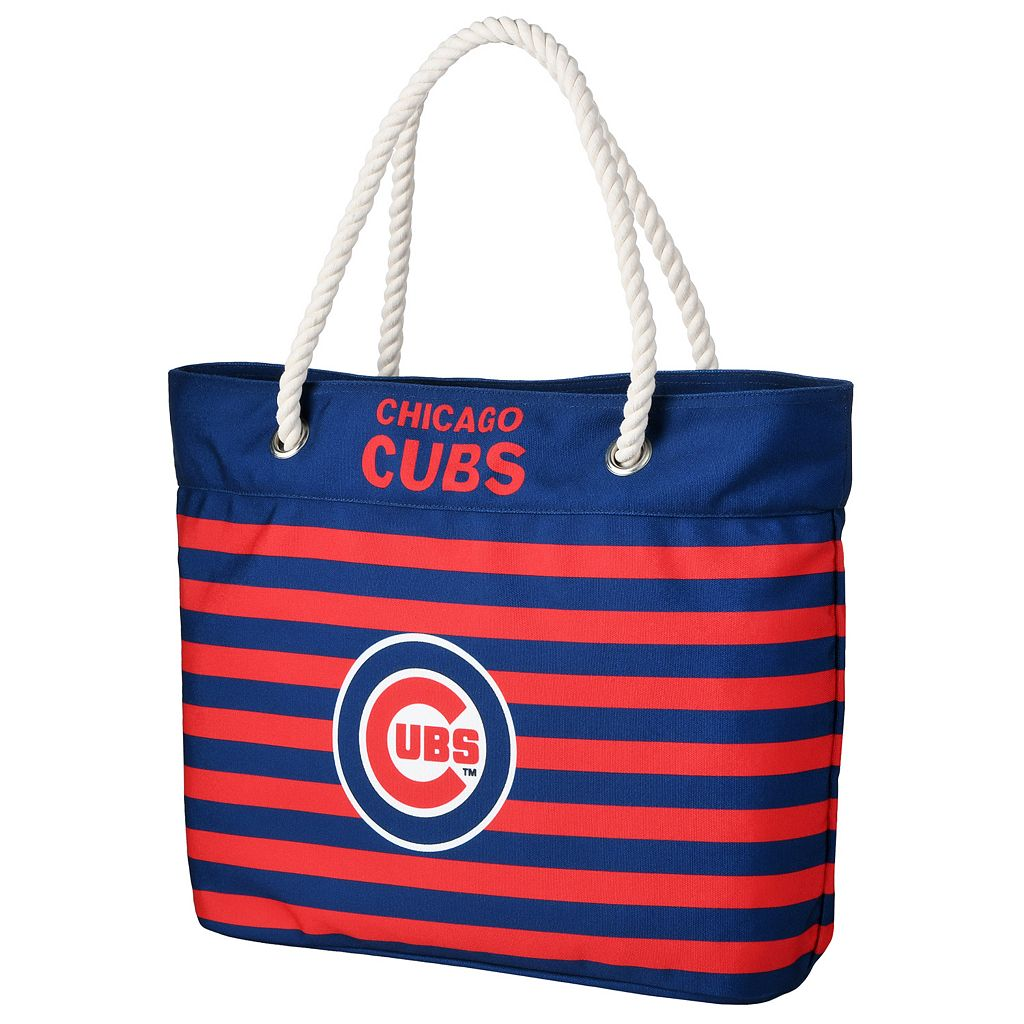Forever Collectibles Chicago Cubs Striped Tote Bag