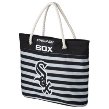 Forever Collectibles Chicago White Sox Striped Tote Bag