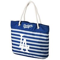 Forever Collectibles Los Angeles Dodgers Striped Tote Bag