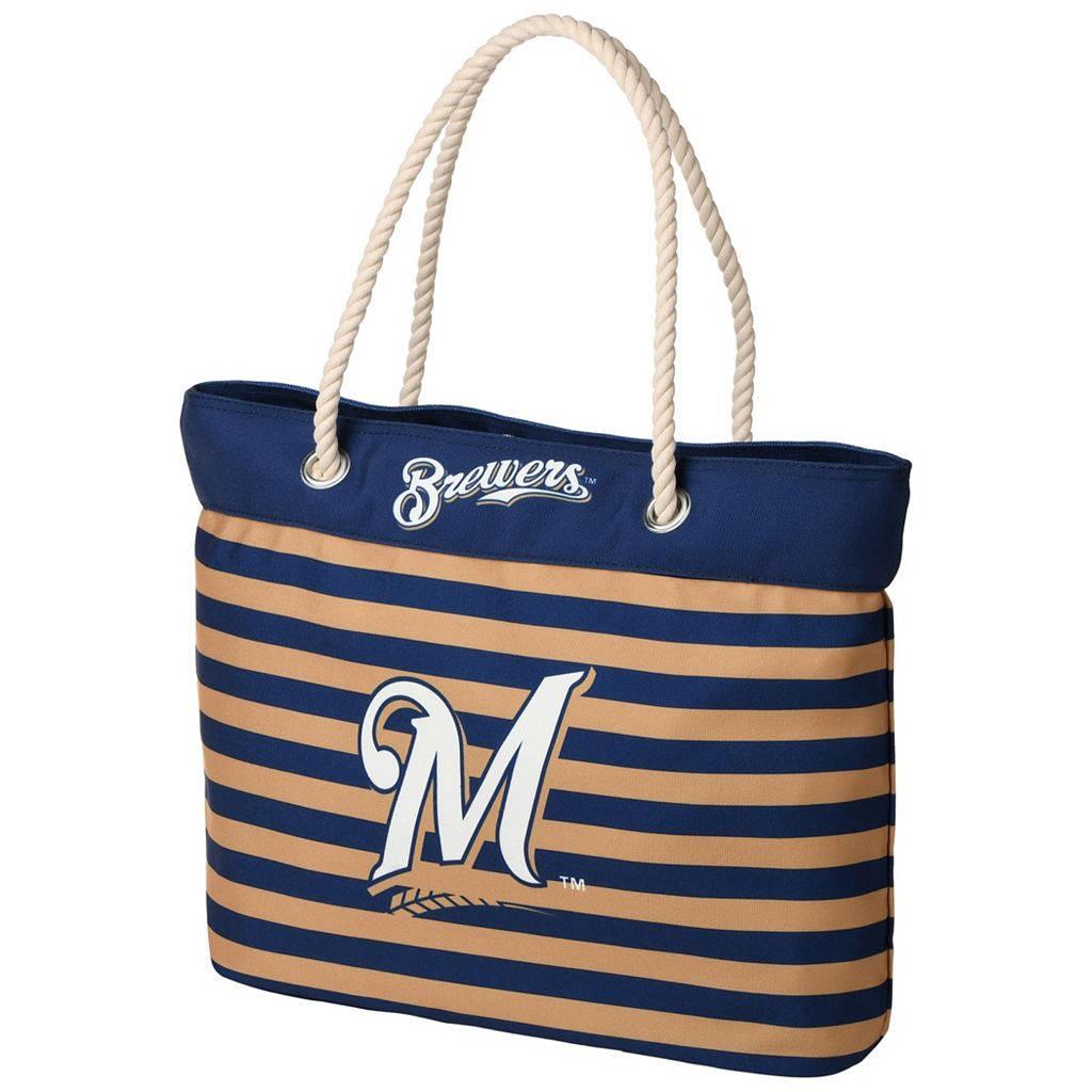 Forever Collectibles Milwaukee Brewers Striped Tote Bag
