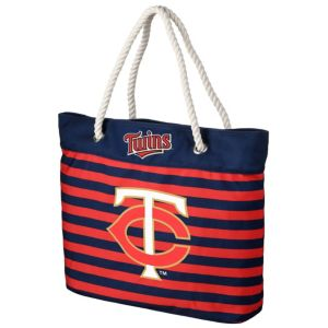Forever Collectibles Minnesota Twins Striped Tote Bag