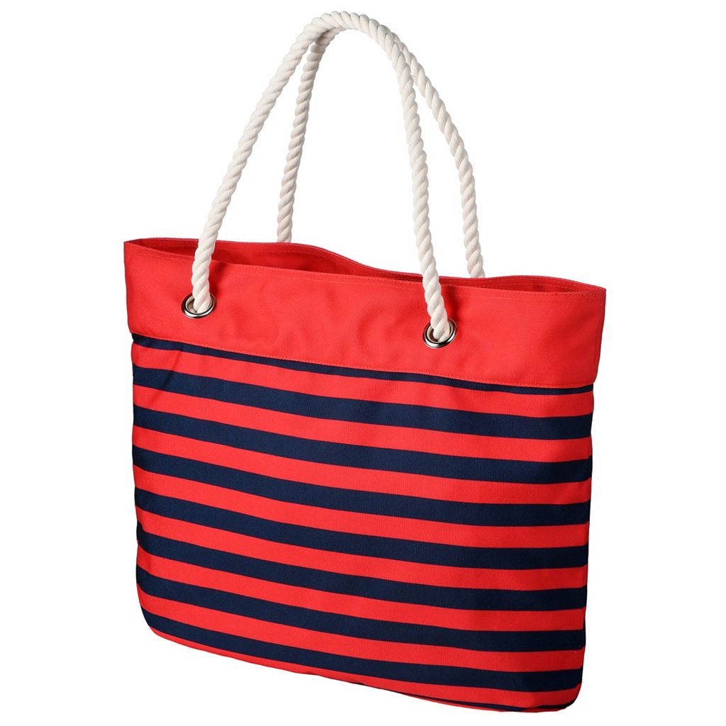 Forever Collectibles Washington Nationals Striped Tote Bag
