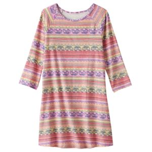 Girls 7-16 & Plus Size Mudd® 3/4-Length Sleeve Patterned Swing Dress