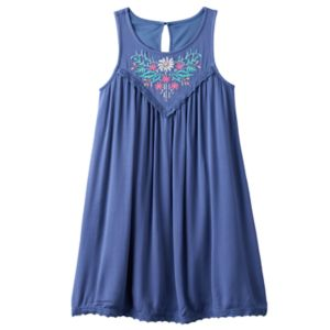 Girls 7-16 Mudd® Embroidered Gauze A-Line Dress