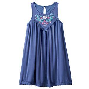 Girls 7-16 Mudd® Embroidered Gauze A-Line Dress