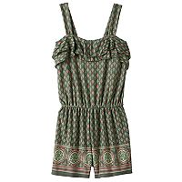 Girls 7-16 & Plus Size Mudd® Ruffle Flounce Patterned Romper