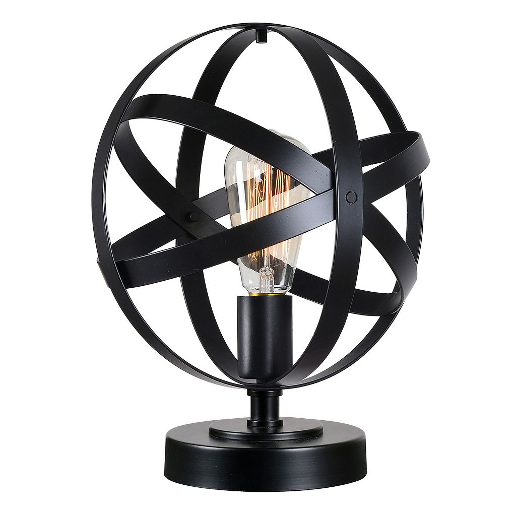 Kenroy Home Black Globe Table Lamp