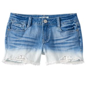 Girls 7-16 & Plus Size Mudd® Dip-Dye Jean Shorts
