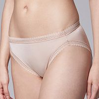 Simply Vera Vera Wang Lace Trim Hi-Cut Brief
