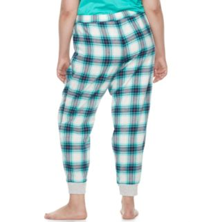Juniors' Plus Size SO® Pajamas: Naptime Squad Flannel Jogger Pants