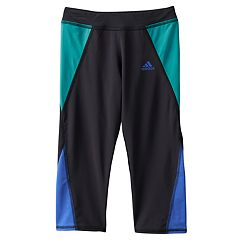Girls 4-6x adidas climalite Colorblocked Capri Running Tights