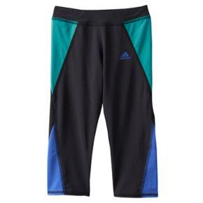 Girls 4-6x adidas climalite Colorblocked Capri Running Tights