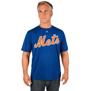 Men's Majestic New York Mets David Wright Player Name and Number Tee