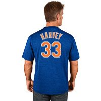 Men's Majestic New York Mets Matt Harvey Player Name and Number Tee
