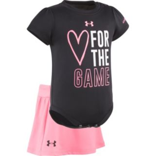 """Baby Girl Under Armour """"Heart For The Game"""" Graphic Bodysuit & Skort Set"""
