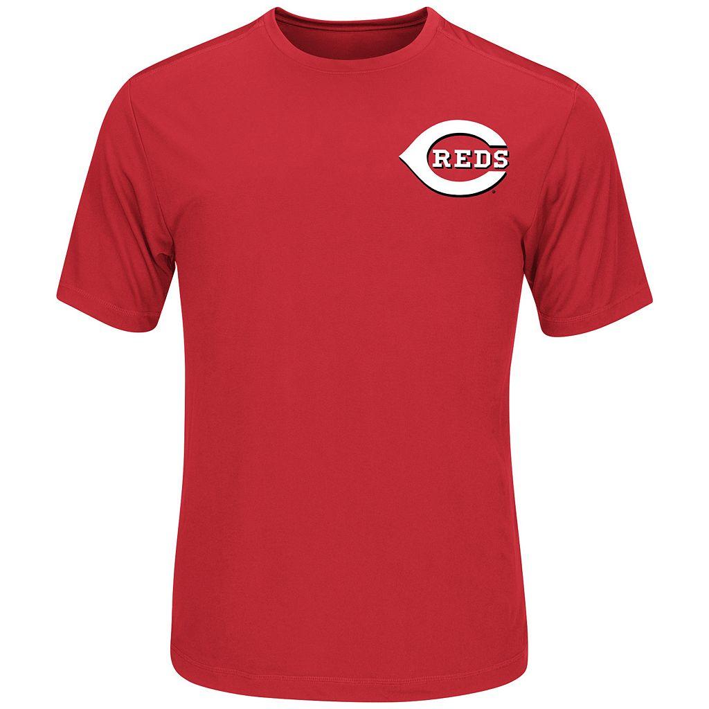 Men's Majestic Cincinnati Reds Joey Votto Name and Number Tee