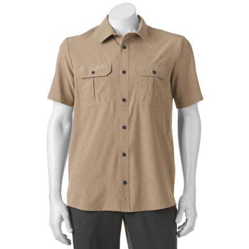 Men's ZeroXposur Tour Travel Series Classic-Fit Performance Button-Down Shirt