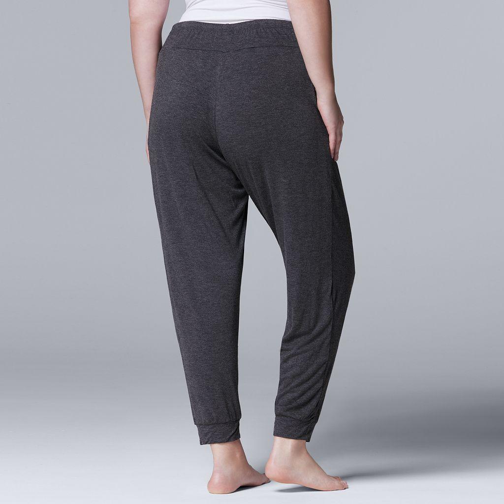 Plus Size Simply Vera Vera Wang Basic Luxuries Jogger Pants