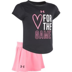 """Baby Girl Under Armour """"Heart For The Game"""" Graphic Tee & Skort Set"""