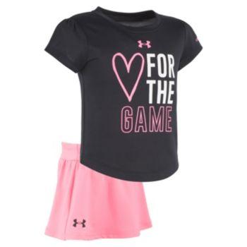 "Toddler Girl Under Armour ""Heart for the Game"" Tee & Skort Set"