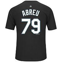 Men's Majestic Chicago White Sox Jose Abreu Name and Number Tee