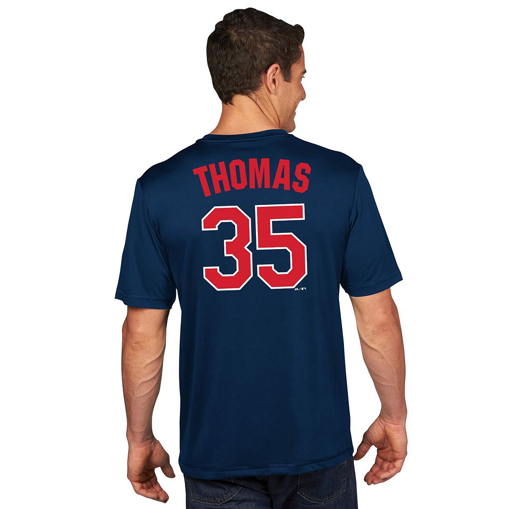Men's Majestic Chicago White Sox Frank Thomas Player Name and Number Tee