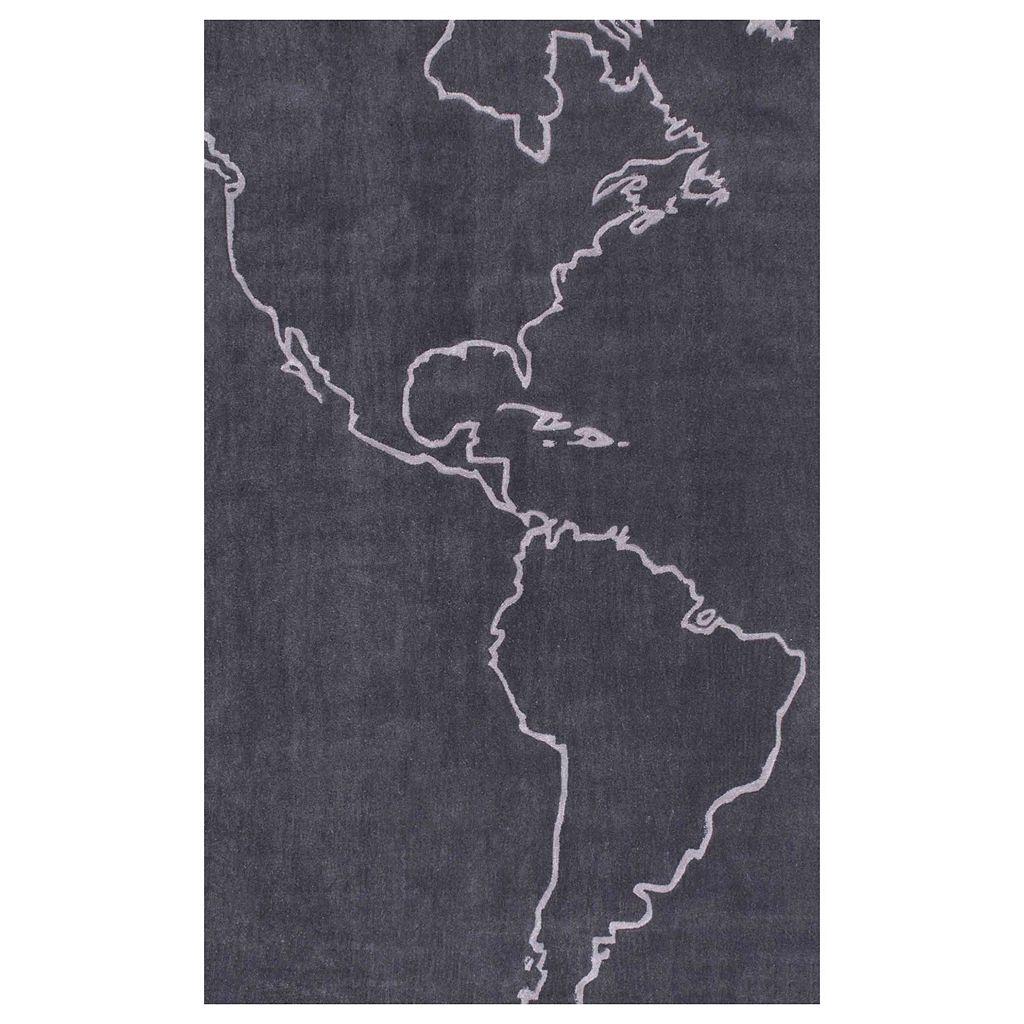 nuLOOM Cine Americas Map Rug - 5' x 8'