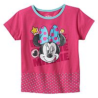 Disney's Minnie Mouse Toddler Girl Mixed Media Graphic Tee