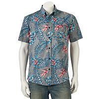 Men's Ocean Current Fantasy Button-Down Shirt
