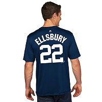 Men's Majestic New York Yankees Jacoby Ellsbury Player Name and Number Tee