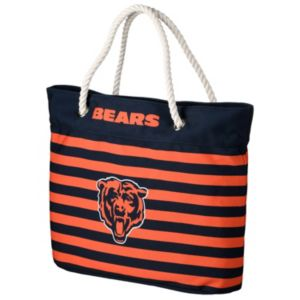 Forever Collectibles Chicago Bears Striped Tote Bag