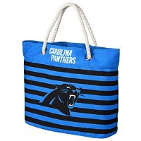 Forever Collectibles Carolina Panthers Striped Tote Bag