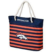 Forever Collectibles Denver Broncos Striped Tote Bag
