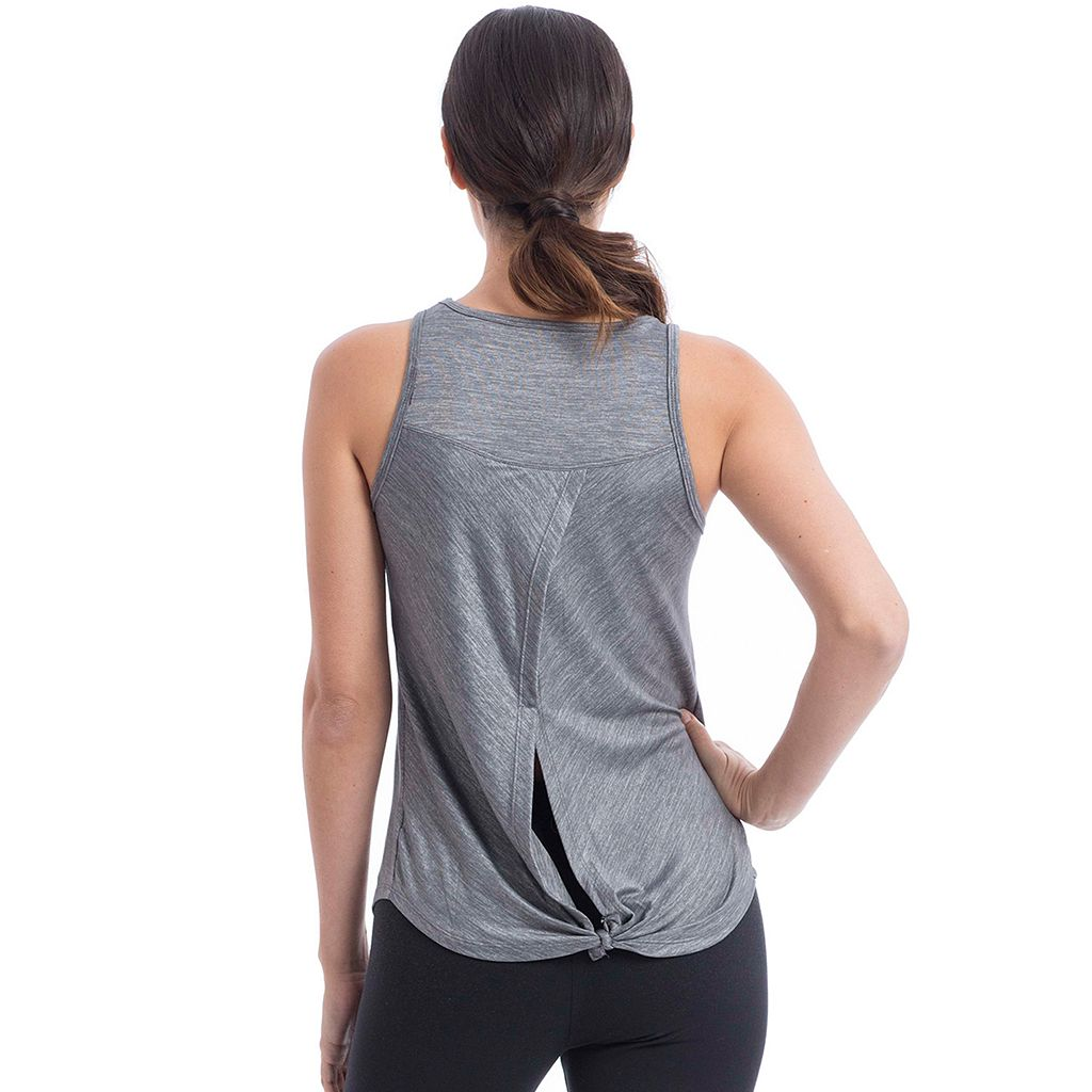 Women's Balance Collection Opal Split Back Knot Tank