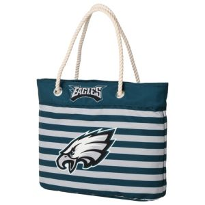 Forever Collectibles Philadelphia Eagles Striped Tote Bag