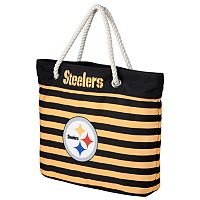 Forever Collectibles Pittsburgh Steelers Striped Tote Bag