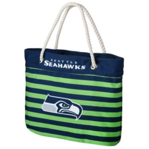 Forever Collectibles Seattle Seahawks Striped Tote Bag