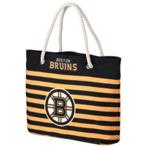 Forever Collectibles Boston Bruins Striped Tote Bag