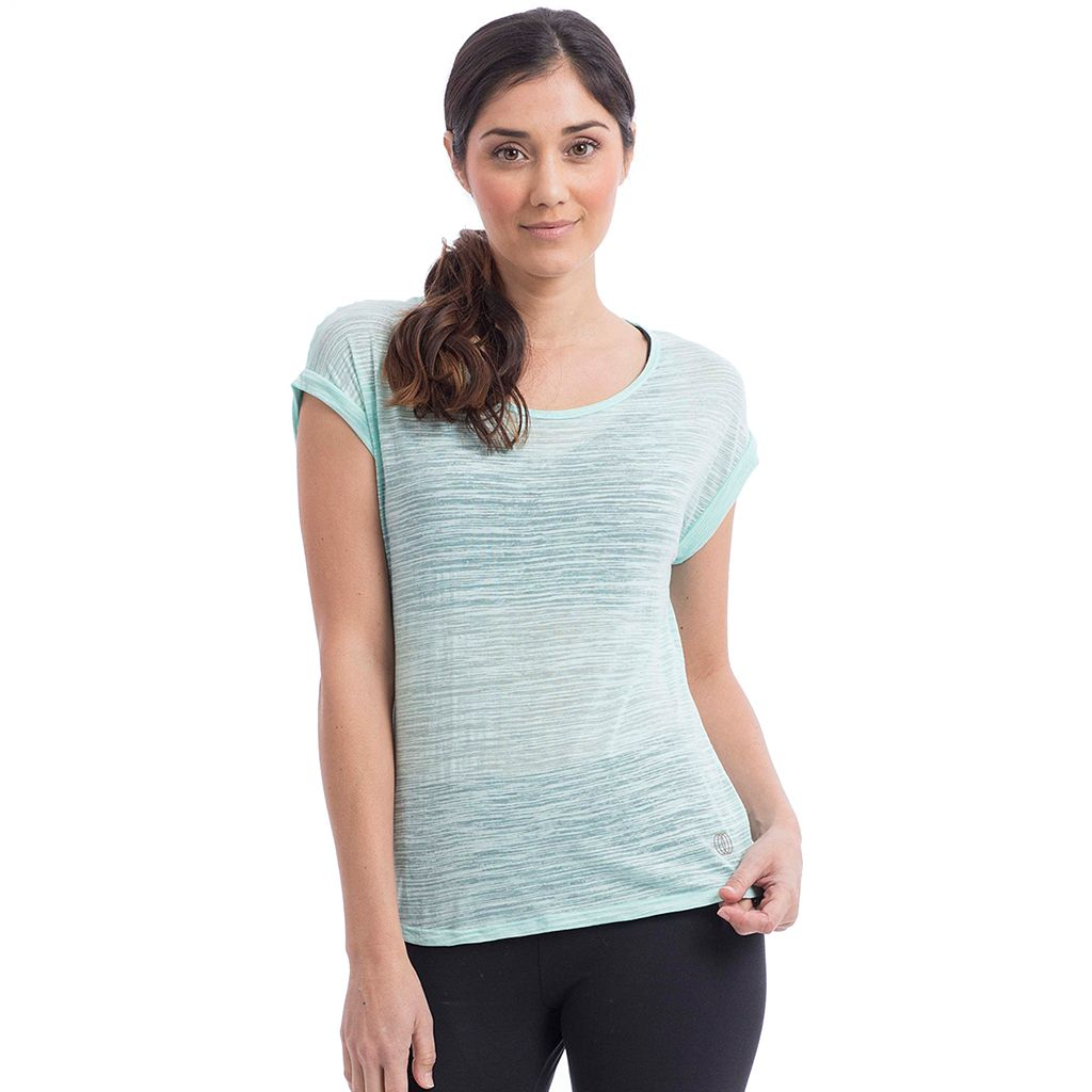 Women's Balance Collection Kimmy Twist Back Burnout Tee