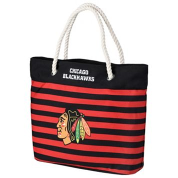 Forever Collectibles Chicago Blackhawks Striped Tote Bag