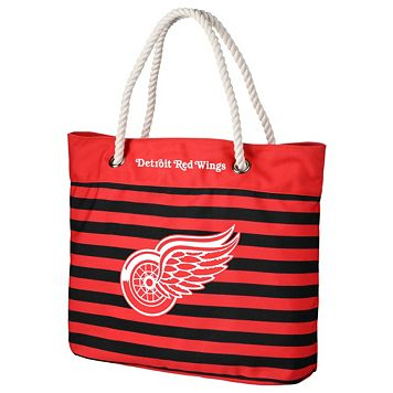 Forever Collectibles Detroit Red Wings Striped Tote Bag