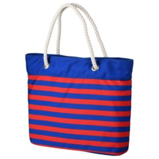 Forever Collectibles New York Rangers Striped Tote Bag